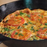 Frittata with Broccoli, Tomatoes, and Smoked Cheddar