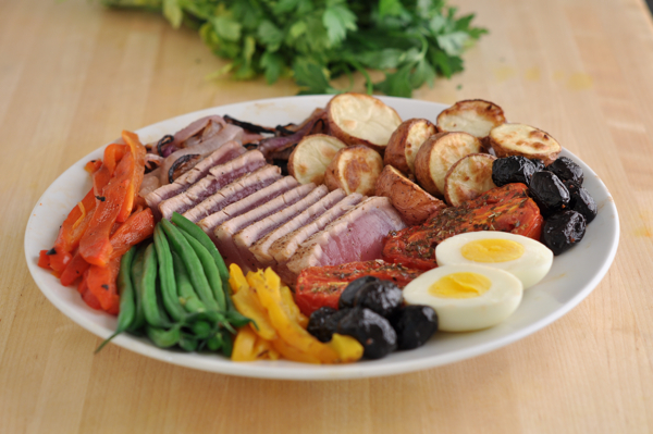 Seared Tuna With Nicoise Vegetables And Garlic Butter Recipes ...