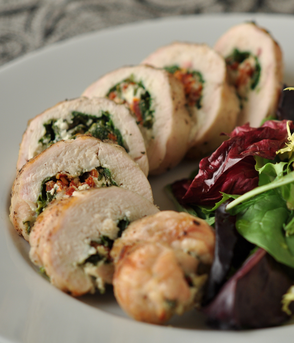 Grilled Chicken Breast Stuffed With Spinach, Sun-dried