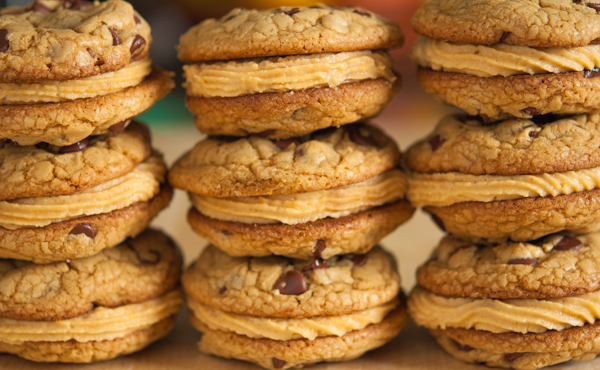 Chocolate Chip Peanut Butter Mousse Cookies