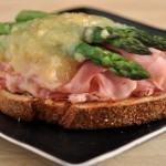 Ham Asparagus and Gruyere Sandwich