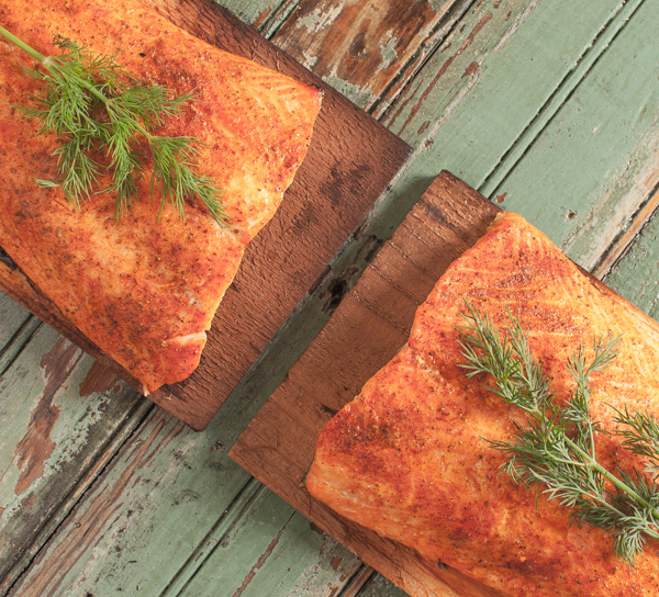 Cedar Plank Salmon with Lemon Dill Aioli | Southern Boy Dishes
