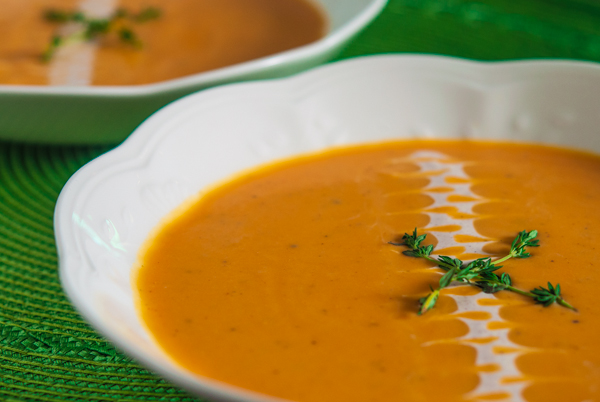 Sweet Potato Bisque with Maple Cinnamon Creme Fraiche | Southern Boy ...