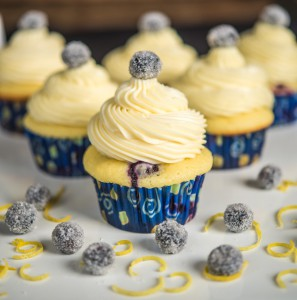 Blueberry Lemon Cupcakes with White Chocolate Frosting