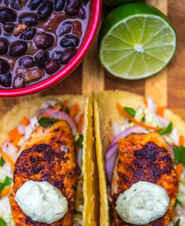 Blackened Tilapia Tacos with Jicama Coleslaw 4