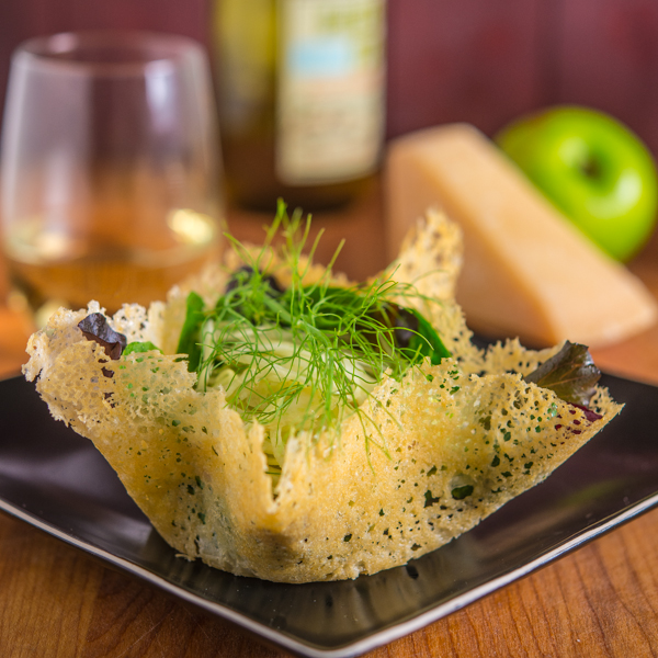 Fennel and Apple Salad in a Parmesan Bowl