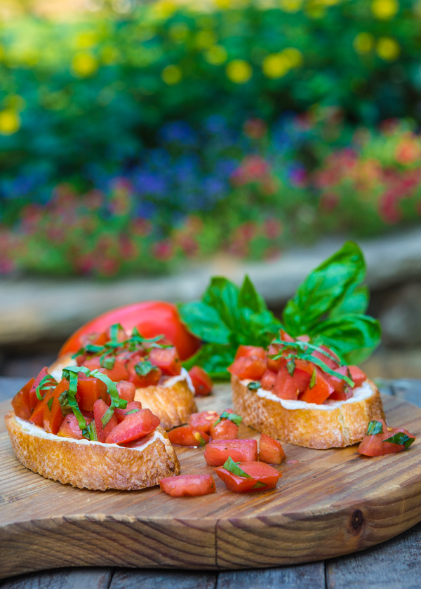 Tomato, Mozzarella, and Basil Bruschetta | Southern Boy Dishes