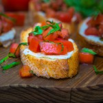 Tomato, Mozzarella, and Basil Bruschetta