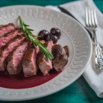 Pan Seared Duck Breast with Cherry Port Wine Reduction