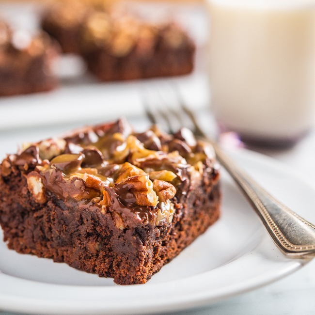 Pecan Turtle Brownies | Southern Boy Dishes