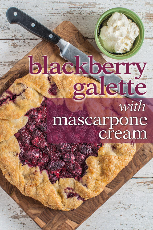 Blackberry Galette with Mascarpone Cream