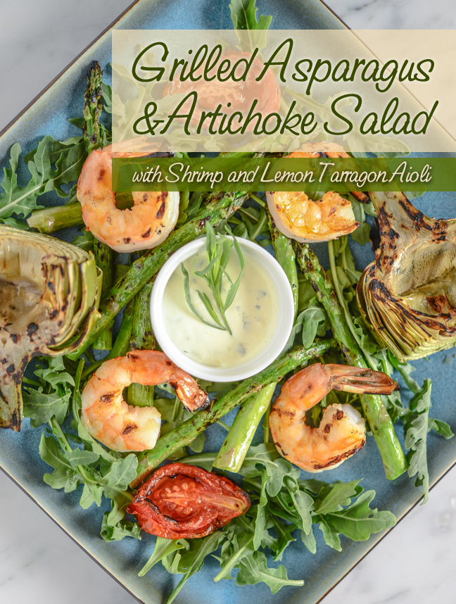 Grilled Asparagus and Artichoke Salad with Shrimp and Lemon Tarragon ...