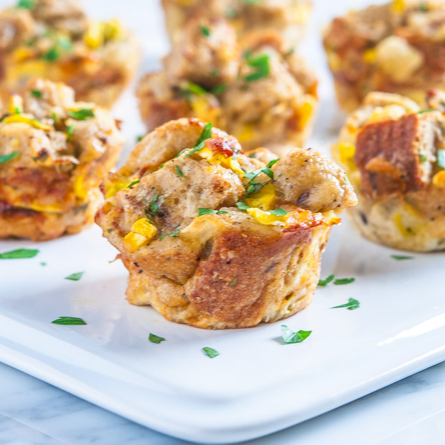 Summer Squash and Vidalia Onion Bread Pudding