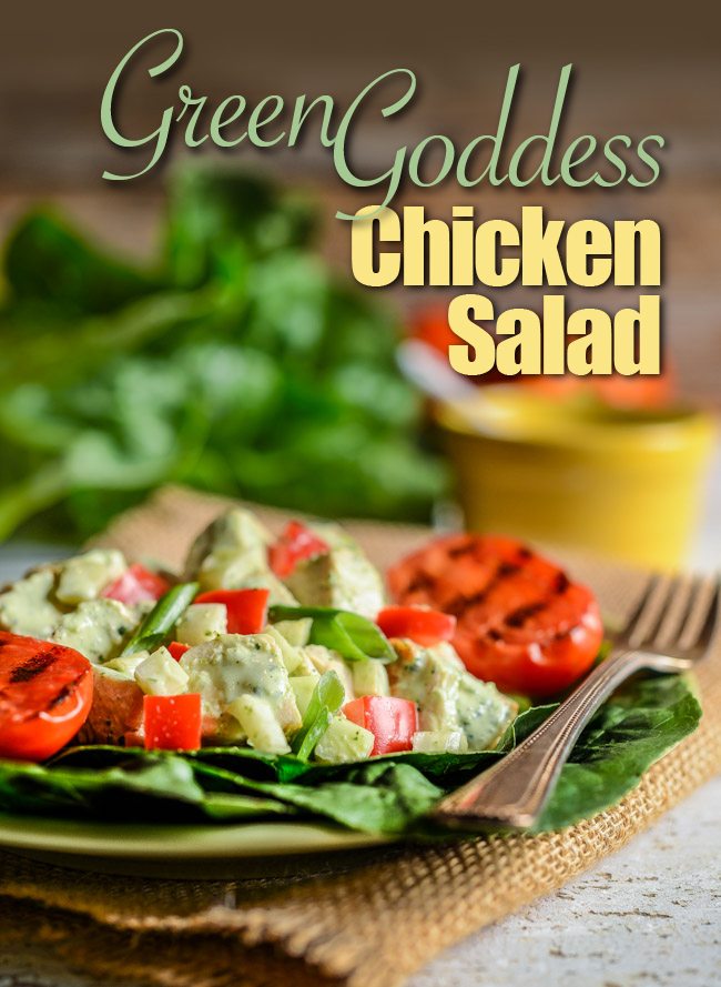Green Goddess Chicken Salad with Fennel and Red Peppers