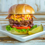 Pimento Cheese-Bacon Burger