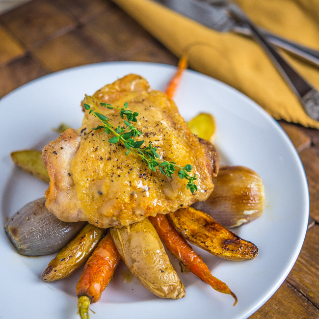 Roast Chicken With Dijon Sauce Recipe — Dishmaps