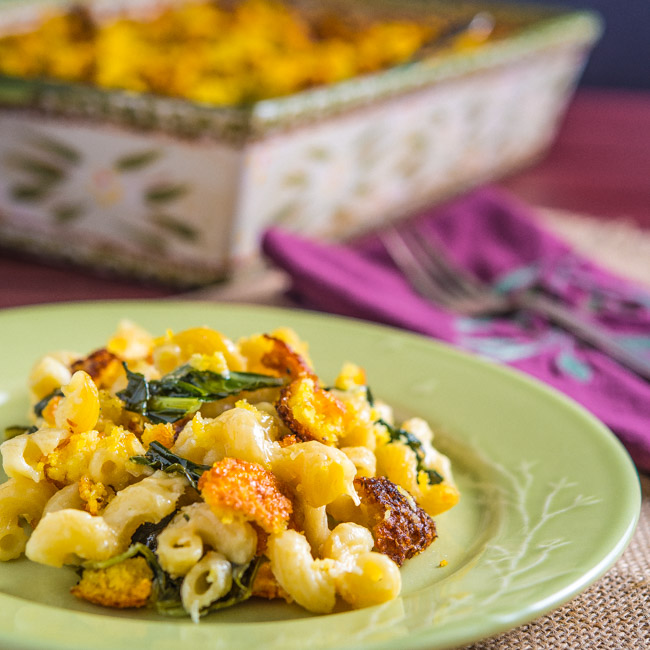 Mac and Cheese with Collards