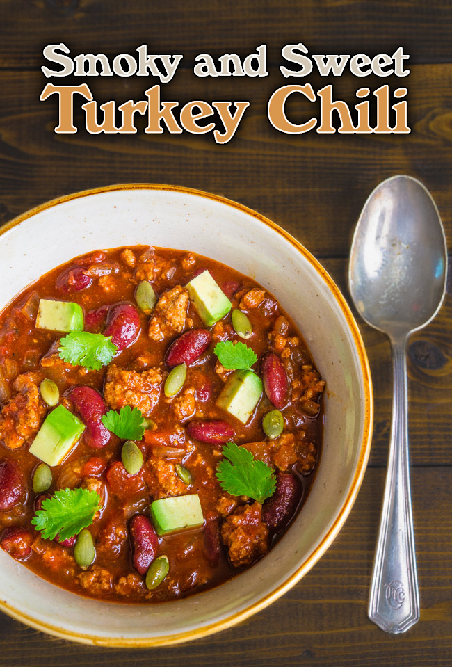 Smoky and Sweet Turkey Chili